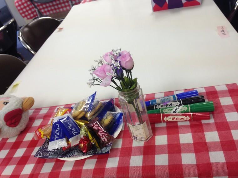 ワールドカフェのテーブル